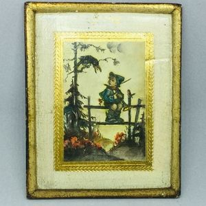 Hummel Florentine Gold Wood Wall Plaque Italy